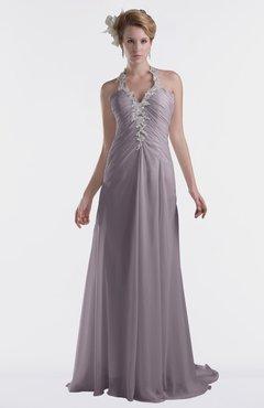 ColsBM Eden Sea Fog Cinderella A-line Sweetheart Sleeveless Criss-cross Straps Brush Train Plus Size Bridesmaid Dresses