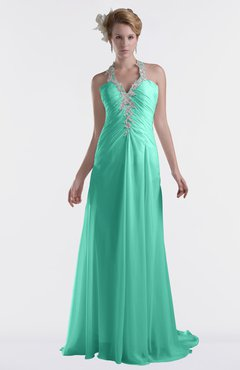 ColsBM Eden Seafoam Green Cinderella A-line Sweetheart Sleeveless Criss-cross Straps Brush Train Plus Size Bridesmaid Dresses