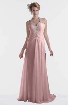 ColsBM Eden Silver Pink Cinderella A-line Sweetheart Sleeveless Criss-cross Straps Brush Train Plus Size Bridesmaid Dresses