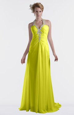 ColsBM Eden Sulphur Spring Cinderella A-line Sweetheart Sleeveless Criss-cross Straps Brush Train Plus Size Bridesmaid Dresses