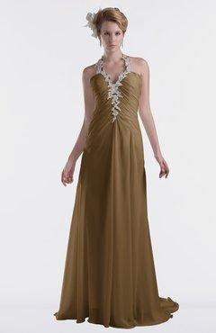 ColsBM Eden Truffle Cinderella A-line Sweetheart Sleeveless Criss-cross Straps Brush Train Plus Size Bridesmaid Dresses