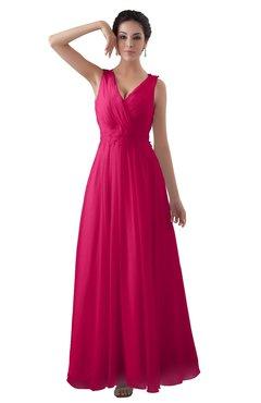 Fuschia bridesmaid dresses cheap