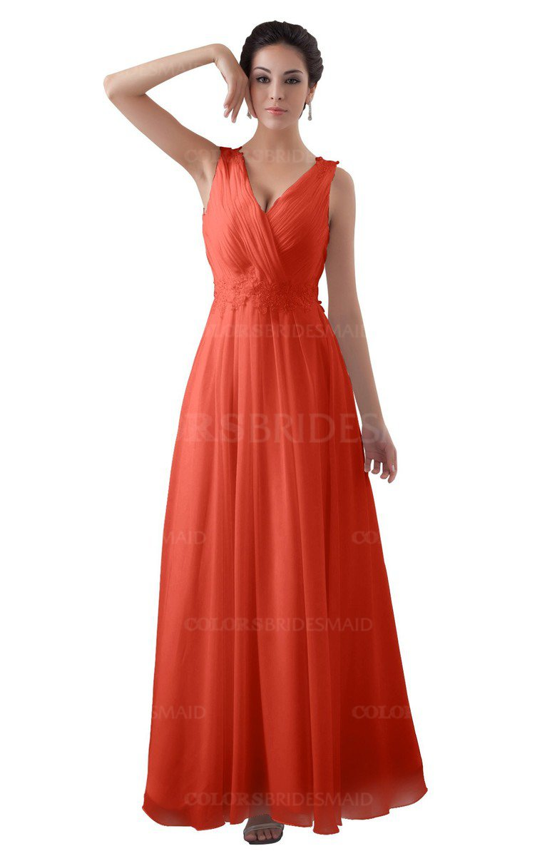 ColsBM Kalani Living Coral Bridesmaid Dresses - ColorsBridesmaid