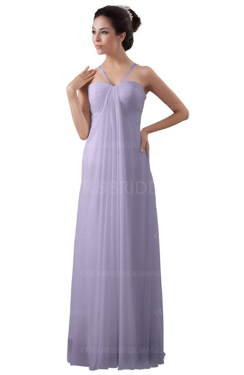 Pastel lilac informal a line spaghetti sleeveless floor length informal a line spaghetti sleeveless floor length ruching plus size bridesmaid dresses ombrellifo Gallery
