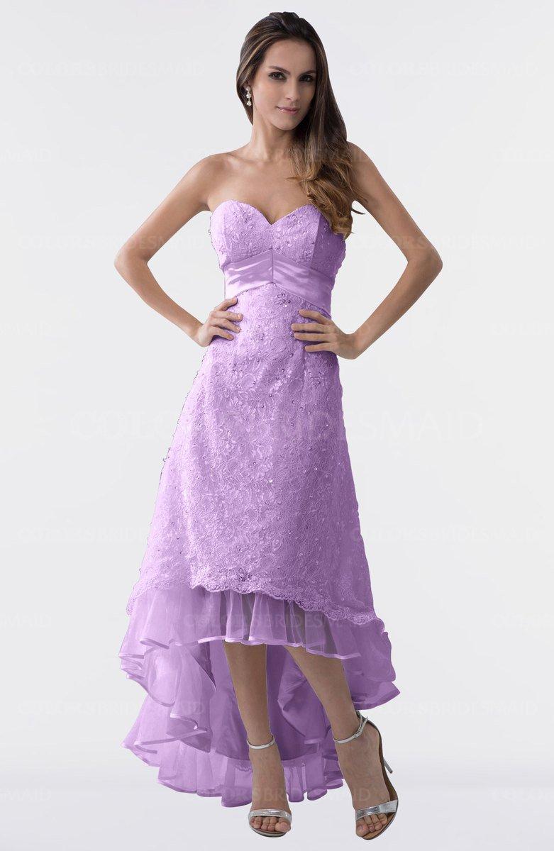6396dc03b98 ColsBM Isabel Begonia Simple A-line Zipper Tea Length Paillette Plus Size  Bridesmaid Dresses