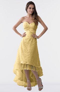 aa870f71ce4e ColsBM Isabel Ochre Simple A-line Zipper Tea Length Paillette Plus Size  Bridesmaid Dresses