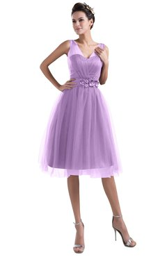 e935efd7467 ColsBM Ashley Begonia Plain Illusion Zipper Knee Length Flower Plus Size  Bridesmaid Dresses