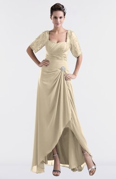 5059d2982adc ColsBM Emilia Champagne Modest Sweetheart Short Sleeve Zip up Floor Length  Plus Size Bridesmaid Dresses