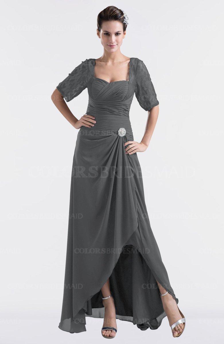 Grey modest sweetheart short sleeve zip up floor length plus size modest sweetheart short sleeve zip up floor length plus size bridesmaid dresses ombrellifo Images