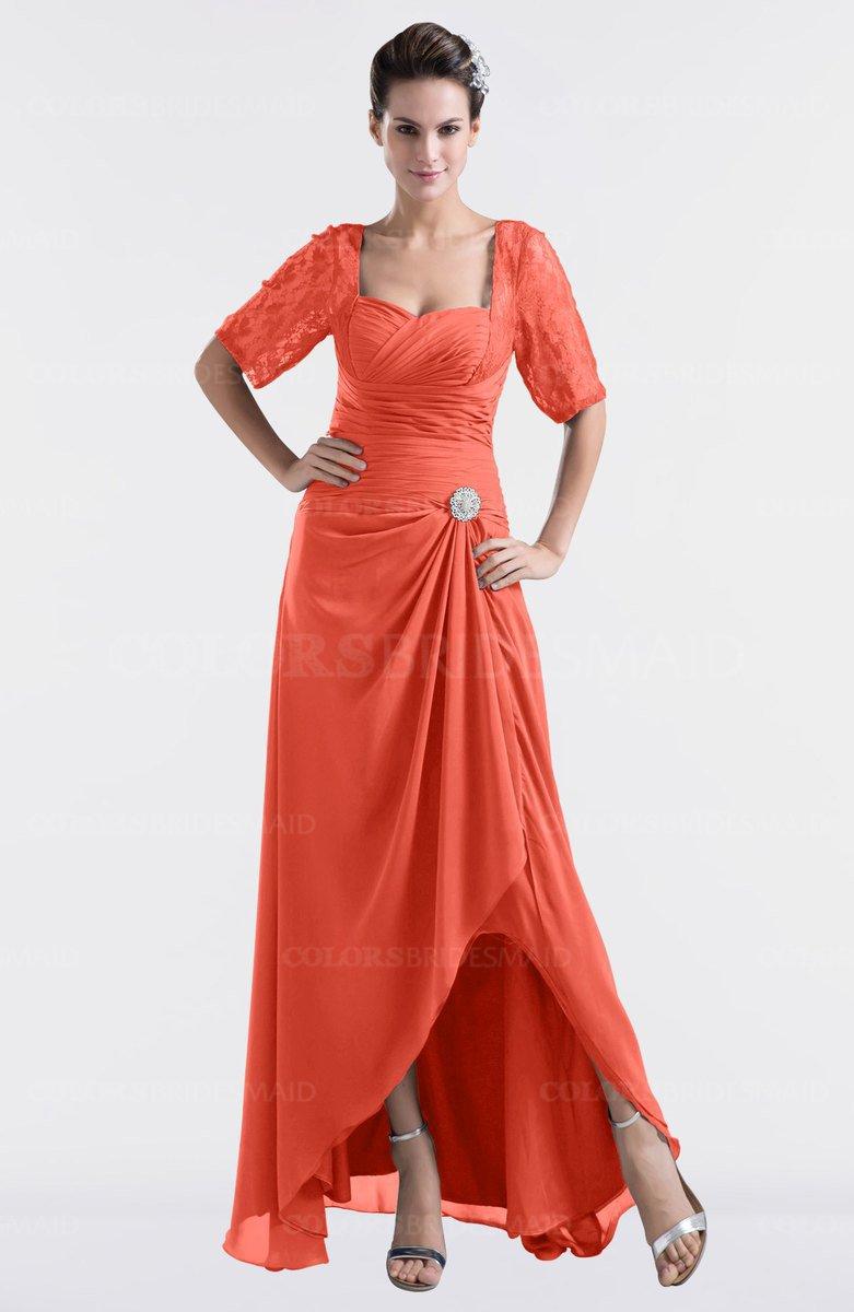 ColsBM Emilia - Living Coral Bridesmaid Dresses