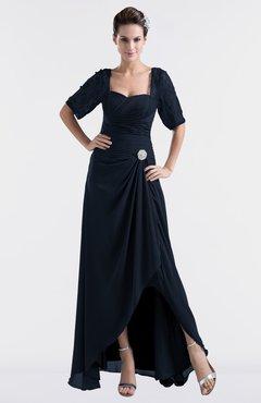 Navy Blue Bridesmaid Dresses Asymmetric & Navy Blue Gowns ...
