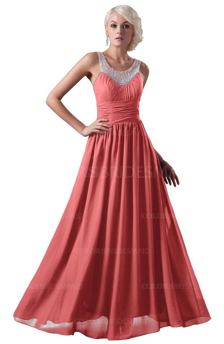 ColsBM Cora Coral Bridesmaid Dresses - ColorsBridesmaid