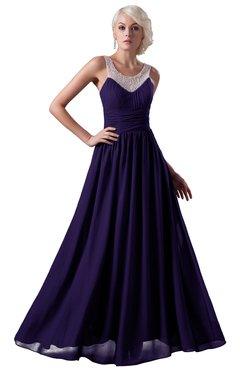 1b259d4305 ColsBM Cora Royal Purple Cute A-line Scoop Sleeveless Zipper Beading Plus  Size Bridesmaid Dresses
