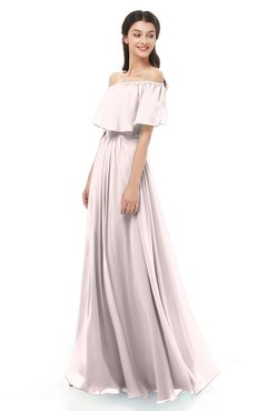 ColsBM Hana Angel Wing Bridesmaid Dresses Romantic Short Sleeve Floor Length Pleated A-line Off The Shoulder