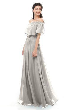 ColsBM Hana Ashes Of Roses Bridesmaid Dresses Romantic Short Sleeve Floor Length Pleated A-line Off The Shoulder