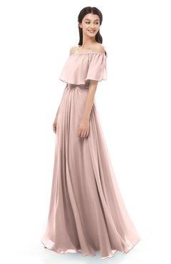 44c7a63fb4273 ColsBM Hana Dusty Rose Bridesmaid Dresses Romantic Short Sleeve Floor Length  Pleated A-line Off