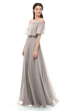 ColsBM Hana Fawn Bridesmaid Dresses Romantic Short Sleeve Floor Length Pleated A-line Off The Shoulder