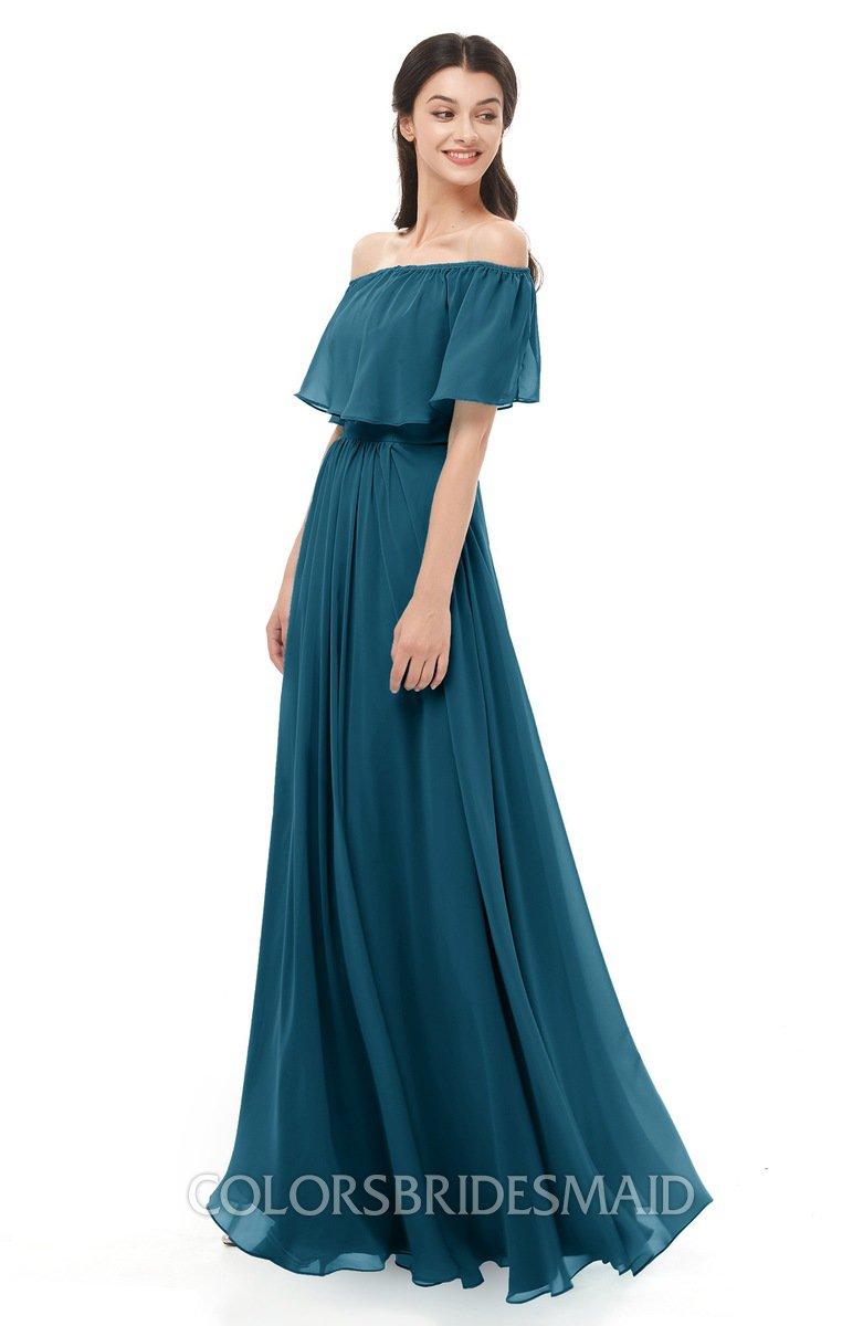 Colsbm Hana Moroccan Blue Bridesmaid Dresses Colorsbridesmaid