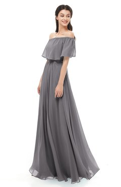 ColsBM Hana Storm Front Bridesmaid Dresses Romantic Short Sleeve Floor Length Pleated A-line Off The Shoulder