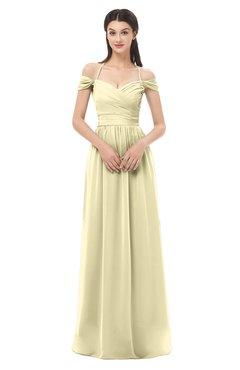 ColsBM Amirah Anise Flower Bridesmaid Dresses Halter Zip up Pleated Floor Length Elegant Short Sleeve
