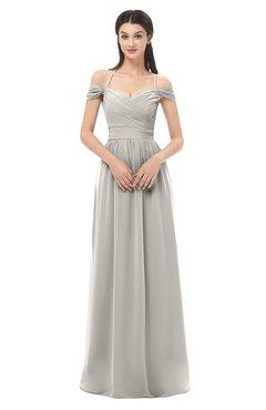 ColsBM Amirah Ashes Of Roses Bridesmaid Dresses Halter Zip up Pleated Floor Length Elegant Short Sleeve