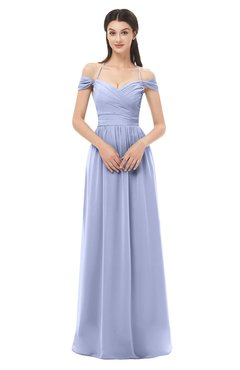 ColsBM Amirah Blue Heron Bridesmaid Dresses Halter Zip up Pleated Floor Length Elegant Short Sleeve
