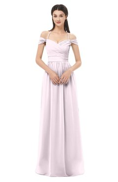 ColsBM Amirah Blush Bridesmaid Dresses Halter Zip up Pleated Floor Length Elegant Short Sleeve