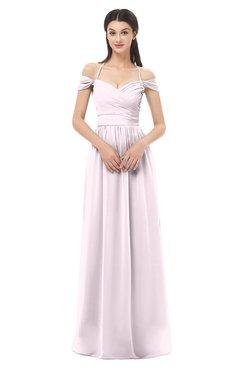 ColsBM Amirah Blush Bridesmaid Dresses Halter Zip up Pleated Floor Length Elegant Short Sleeve