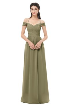 ColsBM Amirah Boa Bridesmaid Dresses Halter Zip up Pleated Floor Length Elegant Short Sleeve