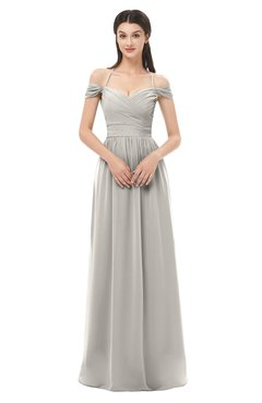 ColsBM Amirah Hushed Violet Bridesmaid Dresses Halter Zip up Pleated Floor Length Elegant Short Sleeve