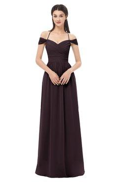 ColsBM Amirah Italian Plum Bridesmaid Dresses Halter Zip up Pleated Floor Length Elegant Short Sleeve