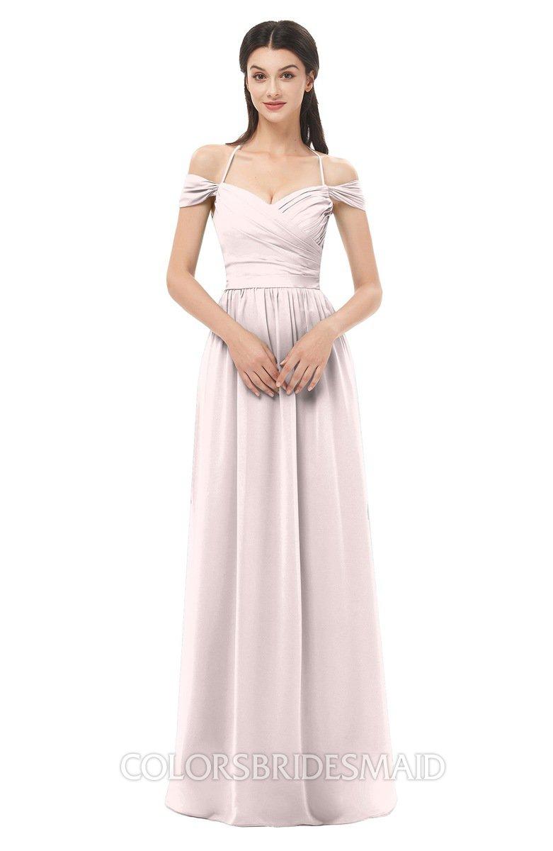 02c41b441ac ColsBM Amirah Light Pink Bridesmaid Dresses Halter Zip up Pleated Floor  Length Elegant Short Sleeve