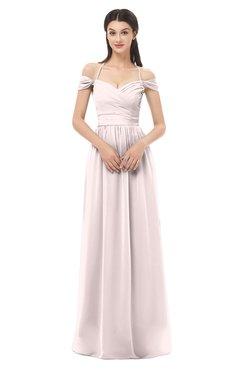 ColsBM Amirah Light Pink Bridesmaid Dresses Halter Zip up Pleated Floor Length Elegant Short Sleeve