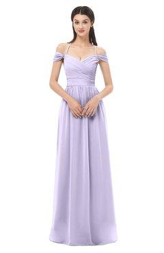 ColsBM Amirah Light Purple Bridesmaid Dresses Halter Zip up Pleated Floor Length Elegant Short Sleeve