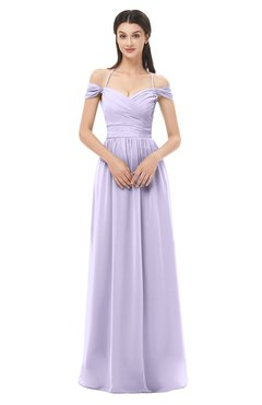 ColsBM Amirah Pastel Lilac Bridesmaid Dresses Halter Zip up Pleated Floor Length Elegant Short Sleeve