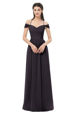 ColsBM Amirah Perfect Plum Bridesmaid Dresses Halter Zip up Pleated Floor Length Elegant Short Sleeve