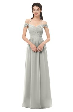 ColsBM Amirah Bridesmaid Dresses Halter Zip up Pleated Floor Length Elegant Short Sleeve