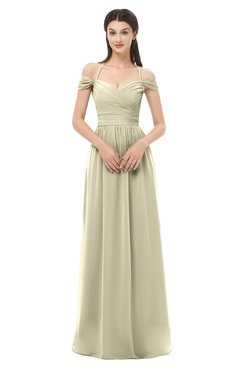 ColsBM Amirah Putty Bridesmaid Dresses Halter Zip up Pleated Floor Length Elegant Short Sleeve