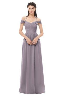 ColsBM Amirah Sea Fog Bridesmaid Dresses Halter Zip up Pleated Floor Length Elegant Short Sleeve