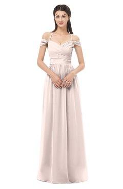 ColsBM Amirah Silver Peony Bridesmaid Dresses Halter Zip up Pleated Floor Length Elegant Short Sleeve