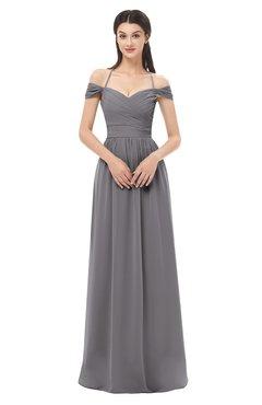 ColsBM Amirah Storm Front Bridesmaid Dresses Halter Zip up Pleated Floor Length Elegant Short Sleeve