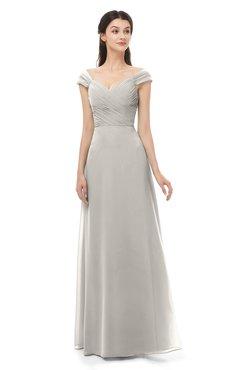 ColsBM Aspen Ashes Of Roses Bridesmaid Dresses Off The Shoulder Elegant Short Sleeve Floor Length A-line Ruching