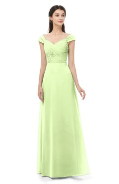 ColsBM Aspen Butterfly Bridesmaid Dresses Off The Shoulder Elegant Short Sleeve Floor Length A-line Ruching