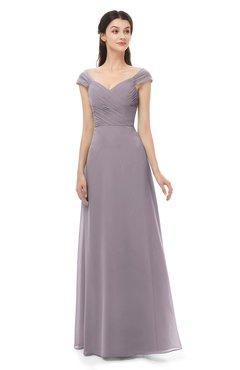 ColsBM Aspen Cameo Bridesmaid Dresses Off The Shoulder Elegant Short Sleeve Floor Length A-line Ruching
