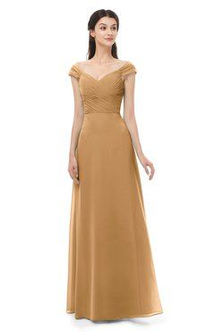 ColsBM Aspen Doe Bridesmaid Dresses Off The Shoulder Elegant Short Sleeve Floor Length A-line Ruching