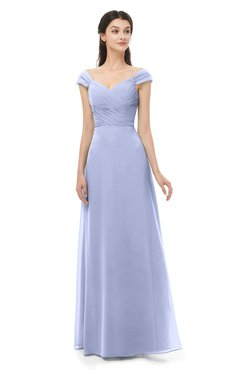 ColsBM Aspen Lavender Bridesmaid Dresses Off The Shoulder Elegant Short Sleeve Floor Length A-line Ruching