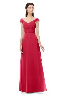 ColsBM Aspen Lollipop Bridesmaid Dresses Off The Shoulder Elegant Short Sleeve Floor Length A-line Ruching