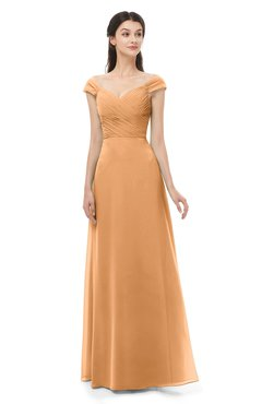 ColsBM Aspen Pheasant Bridesmaid Dresses Off The Shoulder Elegant Short Sleeve Floor Length A-line Ruching