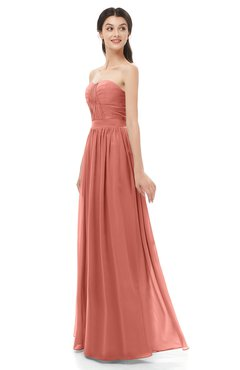 ColsBM Esme Crabapple Bridesmaid Dresses Zip up A-line Floor Length Sleeveless Simple Sweetheart