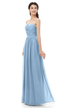 ColsBM Esme Dusty Blue Bridesmaid Dresses Zip up A-line Floor Length Sleeveless Simple Sweetheart